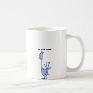 5ks are for Chickens Blue Bird Marathon Cartoon Coffee Mug