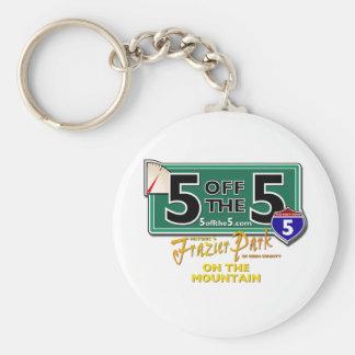 5offthe5 basic round button keychain