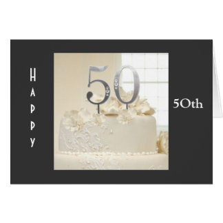 5Oth WEDDING ANNIVERSARY WISHES Card