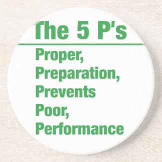 5p's - Proper, Preparation, Prevents, Poor, ...... Beverage Coaster