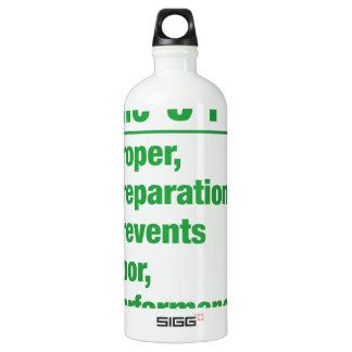 5p's - Proper, Preparation, Prevents, Poor, ...... Water Bottle