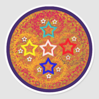 5Star - a different style Classic Round Sticker