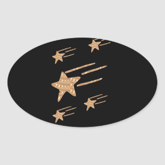 5STAR Gold Black Base: LOWEST PRICE GIFTS for ALL Oval Sticker