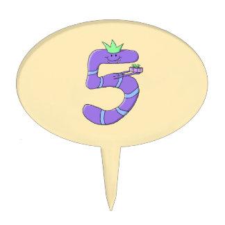 5ta historieta del cumpleaños de la púrpura figuras para tartas