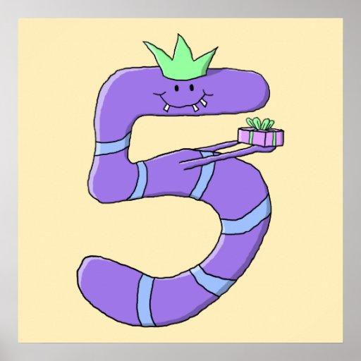 5ta historieta del cumpleaños de la púrpura posters