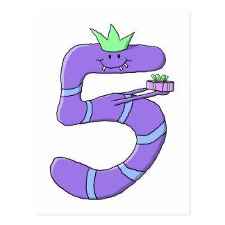 5ta historieta del cumpleaños de la púrpura tarjetas postales