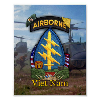 5ta impresión de la guerra de Vietnam de las boina Póster