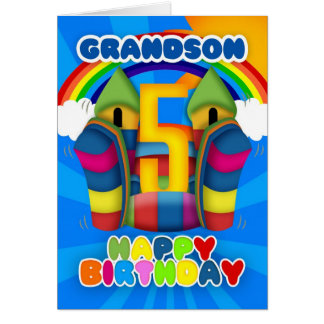 5ta tarjeta de cumpleaños del nieto con el castill