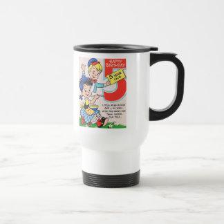5ta tarjeta de cumpleaños del vintage taza de viaje