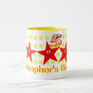 5ta taza de la fiesta de cumpleaños de la estrella