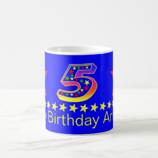5ta taza del cumpleaños de la estrella sonriente