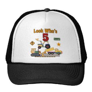 5tas camisetas y regalos del cumpleaños de la cons gorro de camionero