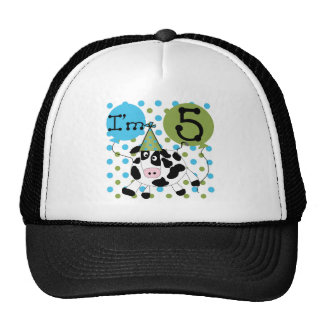 5tas camisetas y regalos del cumpleaños de la vaca gorro