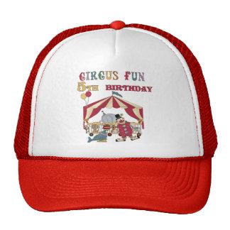 5tas camisetas y regalos del cumpleaños del circo gorro
