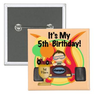 5tas camisetas y regalos del cumpleaños del coche  pin
