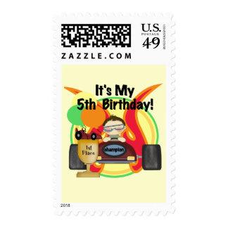 5tas camisetas y regalos del cumpleaños del coche sellos