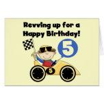 5tas camisetas y regalos del cumpleaños del coche  tarjeta