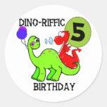 5tas camisetas y regalos del cumpleaños del dinosa etiqueta