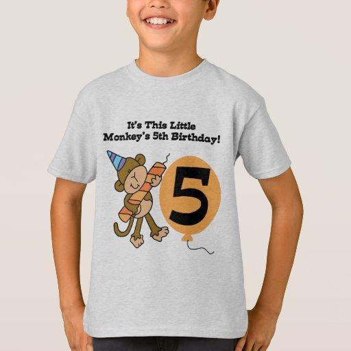 5tas camisetas y regalos del cumpleaños del poleras