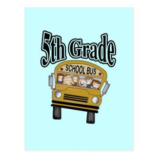 5tas camisetas y regalos del grado del autobús esc tarjetas postales