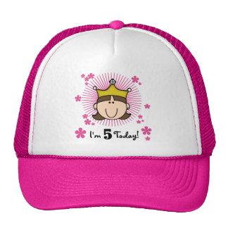 5tas cumpleaños camisetas y regalos de la princesa gorro de camionero