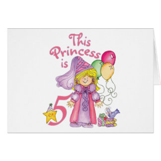 5tas cumpleaños invitaciones de la princesa tarjeta pequeña