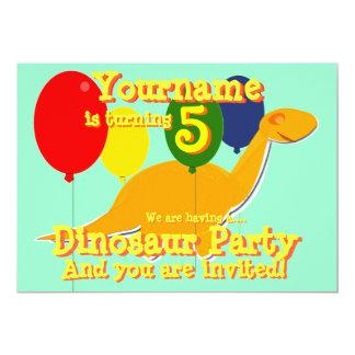 5tas invitaciones de la fiesta de cumpleaños del invitación 12,7 x 17,8 cm