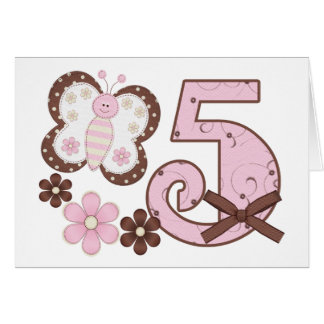 5tas invitaciones del cumpleaños de la mariposa ro tarjeta pequeña