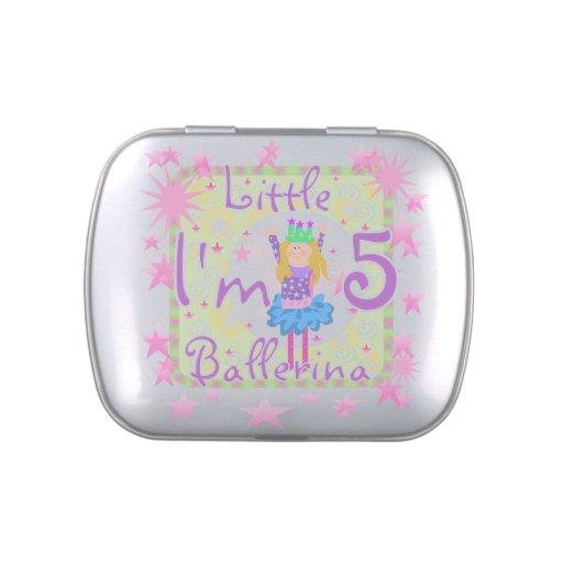 5tas latas y tarros del caramelo del cumpleaños de frascos de dulces