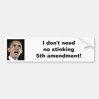 5th Amendment Bumper Stickers
