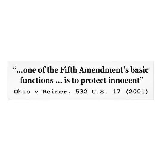 5th Amendment Ohio v Reiner 532 U.S. 17 (2001) Photo Print