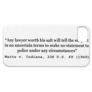 5th Amendment Watts v Indiana 338 US 49 1949 iPhone SE/5/5s Case