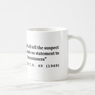 5th Amendment Watts v Indiana 338 US 49 1949 Mug