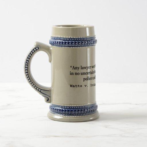 5th Amendment Watts v Indiana 338 US 49 1949 Mugs