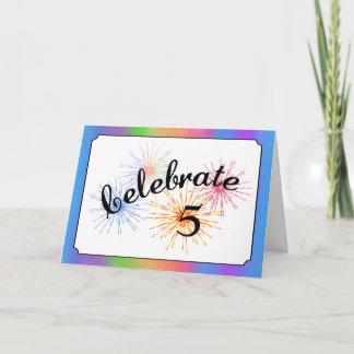 5th Anniversary Celebration Card