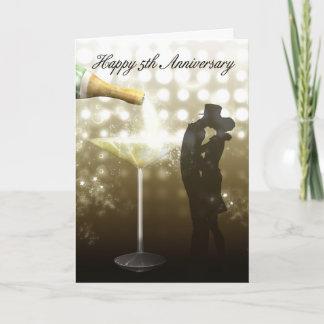 5th Anniversary - Champagne Card