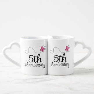 5th Anniversary Couples Mugs