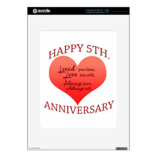 5th. Anniversary Decal For The iPad