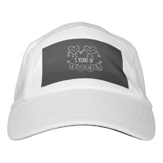 5th Anniversary Gift Chalk Hearts Hat