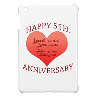 5th. Anniversary iPad Mini Cover