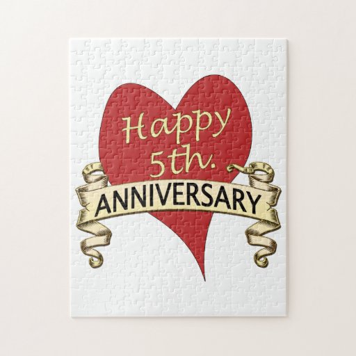 5th. Anniversary Jigsaw Puzzles