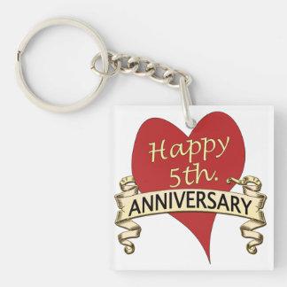 5th. Anniversary Keychain