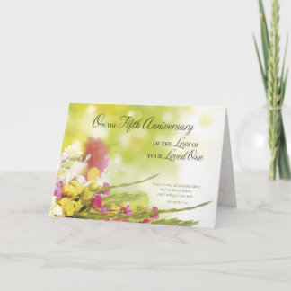 5th Anniversary of Loss of Loved One's Death Card