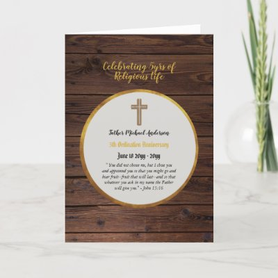 5th Anniversary Ordination Priest - ANY Clergy Card