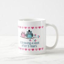 5th Anniversary Owl Couple Mug