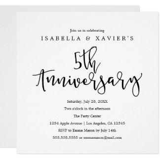5th Anniversary | Party Invitation