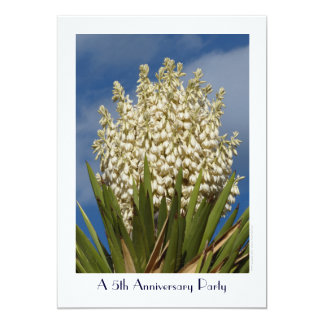 5th Anniversary Party Invitation Flowering Yucca