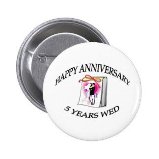 5th. ANNIVERSARY Pinback Button
