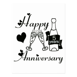 5th. Anniversary Postcard