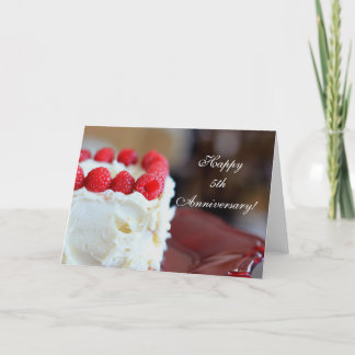 5th Anniversary Raspberries and Cream card